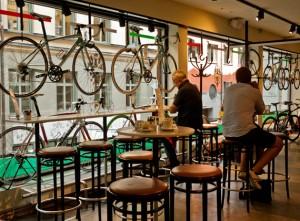 bicicleta cafe
